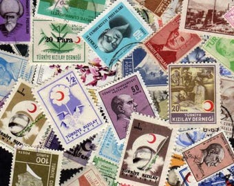 Turkey Stamps, 50 Diff, Turkey Postage Stamps, Turkish Stamps, Turkish Postage Stamps, Postage Stamps,Stamp Collection, , Stamps, Stamp Lot,