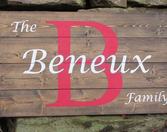 Personalized Sign | Custom Rustic Wood Sign | Last Name Sign | Wedding Gift Sign | Bridal Shower Gift Sign | Anniversary Sign | Rustic Sign