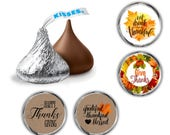 120 Hershey Kisses Stickers | Thanksgiving Sticker | Thanksgiving Candy Kiss Label