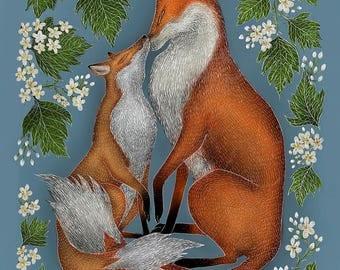 Foxes A5 Print