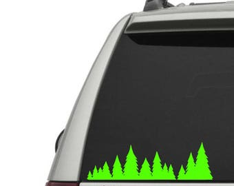 Trees Vinyl Decal - Nature Lover - Forester - Forestry - Forest - Nature - The Great Outdoors - Car Window Decal or Laptop Decal