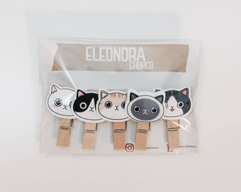 Wooden pegs with Kittens | Stationery | Scrapbooking |