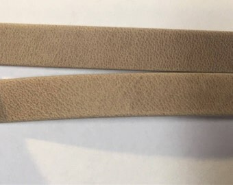 Pre Cuts, No Joins, 10mm Flat Leather Cord, Arizona Natural Beige, Denver