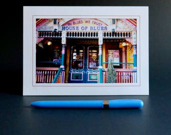 House of Blues Photo Card, New Orleans, Photography Card, NOLA, French Quarter, 5 x 7 Greeting Card