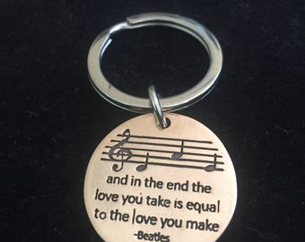 Beatles Inspired: The End Bronze Key Chain