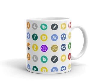 Cryptocurrency Icons Crypto Coffee Mug