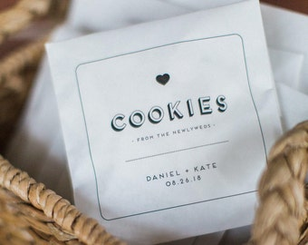 50 Cookie Favor Bags - Wedding Paper Bags - Set of 50