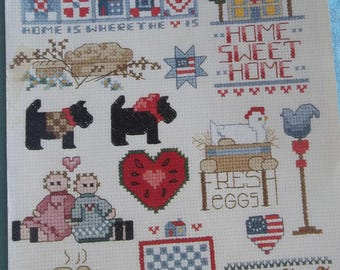 Cross stitch pattern booklet A Little Bit Country by Leisure Arts Leaflet 551 A