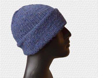 Mens Cuffed Beanie - Mens Knit Hat - Cuffed Beanie - Mens Winter Hat - Mens Slouchy Beanie - Mens Hat - Cuffed Hat - Slouch Beanie