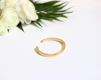 Bracelet half square ring gold