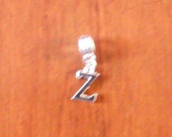 Silver fancy pendant letter Z 16 x 10 mm