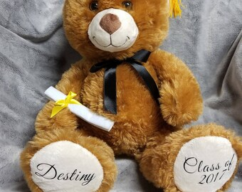 Personalized Graduation Teddy, 14 inches
