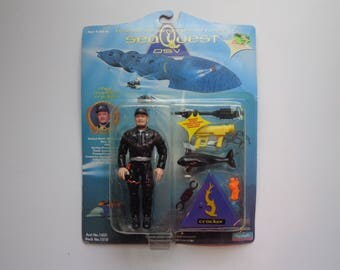 90s Collectible SeaQuest DSV Chief Manilow Crocker Action Figure Toy by Playmates New in Package from 1994 TV Show Character Collection