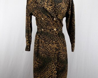 Leslie Fay Animal Print Dress size 6