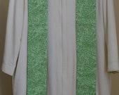 Clergy Stole: Green Swirls