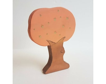 Acorn Tree - Wooden block toy, imaginative play, waldorf toy, autumn, fall, nature table