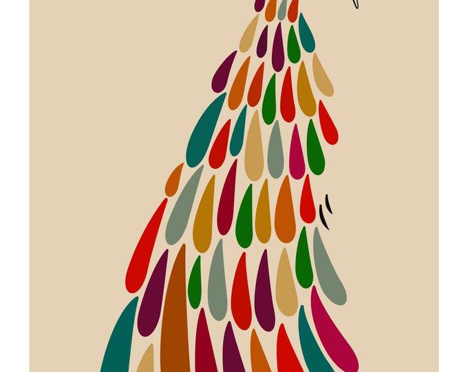 Pretty as a Peacock - Multicolored Peacock Print - Modern Wall Art
