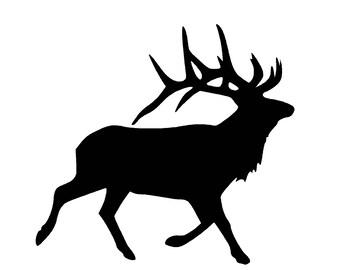 Elk SVG and PNG Digital Download - elk graphic - digital download elk vector silhouette
