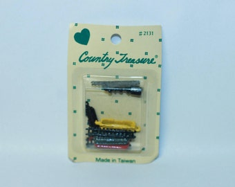 Country Treasure Minature Train Set #2131 Sealed Made In Taiwan Dollhouse, Shadowbox