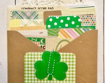Vintage St. Patrick/Green Scrap Pack/20+ Pieces