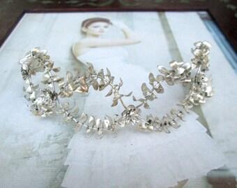 Vintage Myrtle Crown, wedding Myrtle Crown, antique tiara, Bridal Crown silver plated tiara wedding 1920 10