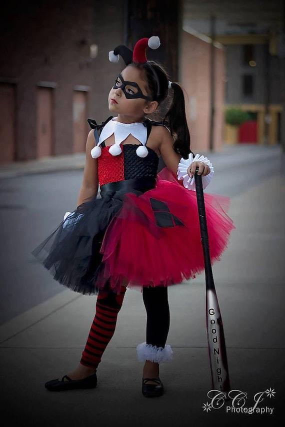 Superhero inspired collection harley quinn tutu dress set - Disfraz joker casero ...