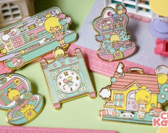 Chic Kawaii nostalgia pin set.
