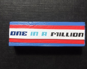 One In A Million | Fridge Magnet | Denim Blue | Home Decor | Office magnet | Recycled Gift |  For Him | For Her |