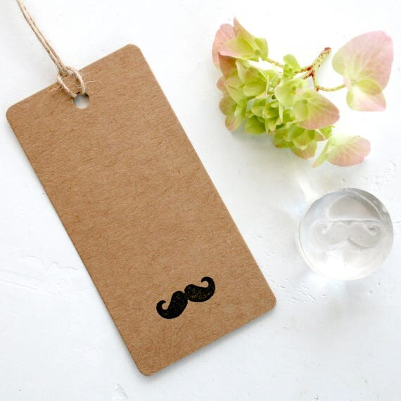 Moustache Clear Rubber Stamp - Moustache Stamp - Moustache - Little Stamp Store
