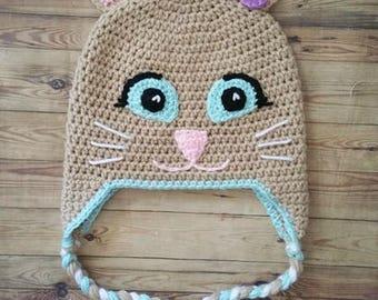 Cute Kitty Crochet Hat