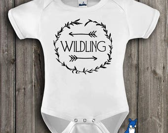 Wildling Bodysuit,Geekery baby clothes,Wildling,GOT shirt,Baby clothes,Nerd baby,Trendy kid clothes,baby bodysuit,Blue Fox Apparel_355