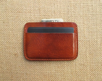 Leather credit card, handmade minimalist wallet, thin wallet, slim wallet