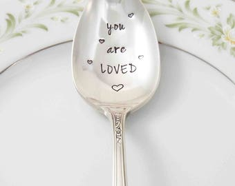 You are Loved, Coffee Spoon, Tea Spoon, Gift for Her, Gift for Him, Gift Idea Under 20, I Love You More