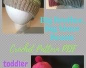 Big Brother Beanie, Big Sister Beanie, Crochet Pattern PDF, Easy, Beginner, Photo Tutorial, Child, Toddler, Caron Cakes, Caron Cupcakes