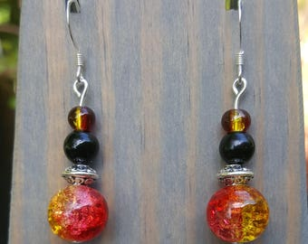 Off the Menu: Tequila Sunrise Earrings (One Pair)