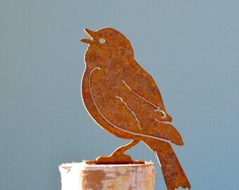 Painted Bunting | Perched Bird | Wild Bird Art | Bird Lovers Gift | Bird Gifts for Mom | Metal Bird Art | Bird Gifts for Men | Songbird B714
