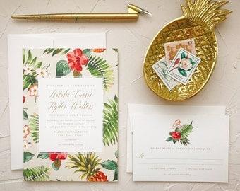 Hawaii Wedding Invitations | Etsy