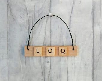 Loo door sign, Toilet sign, Bathroom plaque, fun door sign, toilet decor