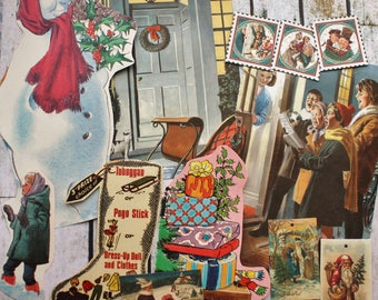 30 Mixed Christmas themed Ephemera pieces,