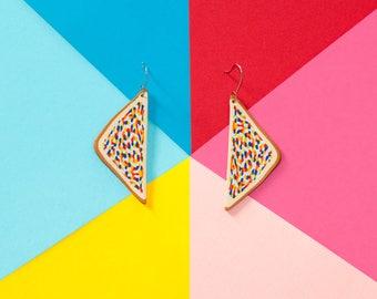 Fairy Bread Earrings – Sterling Silver – Australiana