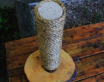 Handmade & Recycled Tree-Limb Cat Scratching Post - Cat Scratcher - Rustic Kitten Furniture