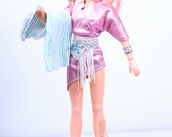 Vintage Jem Jerrica Benton Doll and Some Accessories, Vintage Jem and the Holograms, Hasbro 80s, vintage jem dolls, hasbro jem