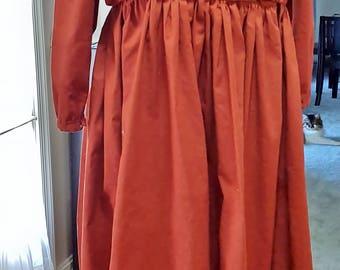 Rust Civil War Day Dress