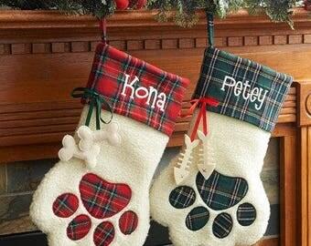 Pet Christmas Stocking, Pet Stocking, Dog Stocking, Cat Stocking, Personalized stockings, Family pet stocking, Personalized pet stocking