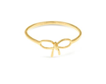 Bow Ring, Bow Tie Ring, Tiffany Bow Ring, Gold Bow Ring, Mid Finger Ring, Dainty Gold Ring, Casual Ring, Gold Filled Jewelry, Birthday Gifts