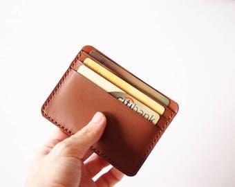Men's Credit Card Wallet/ Card Organiser in Brown Leather - Wallet /Card Holder / Card Wallet / Card Case / Minimalist Wallet