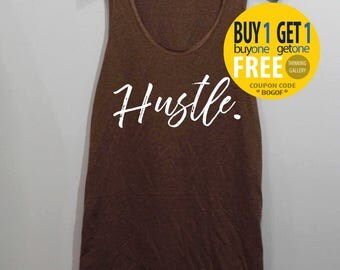 Hustle Shirt Tank Top Singlet Tunic TShirt T Shirt
