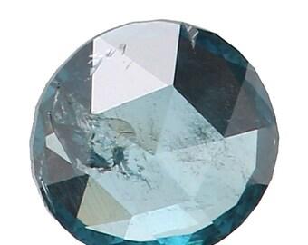 2.70 MM 0.045 Ct Natural Loose Diamond Round Rose Cut Blue Color K3183