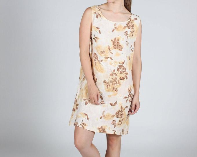 Beige Floral Dress