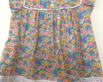 Adorable Vintage Floral Lace Dress Size 3T